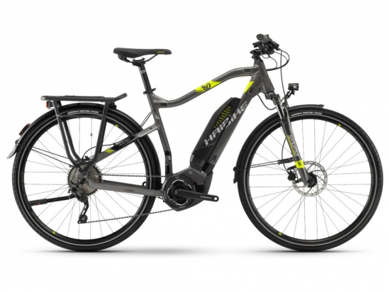 Haibike SDURO Trekking 4.0 He 400Wh 10-G Deore YWC (2018), anthr./schwarz/lime, Gr. L